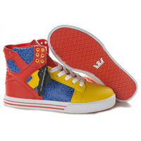 Supra Shoes Skytop Blue Yellow Red White