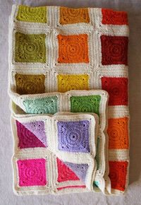 Whit's Knits: Bear's Rainbow Blanket - Knitting Crochet Sewing Crafts Patterns and Ideas! - the purl bee