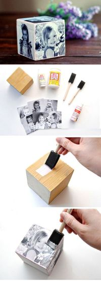 "Father's Day Photo Cube �€"" DIY Gift Idea - 14 Fun, Grateful and Clever DIY Father's Day Gifts from Kids"