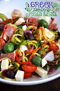 Greek Zoodle Pasta Salad Cover Photo Painted