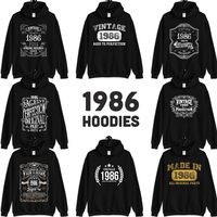 1986 Birthday Gift, Vintage Born in 1986 Hooded Sweatshirt for women men, 34th Birthday Hoodies for her him, Made in 1986 Hoodie 34 Year Old $23.99
