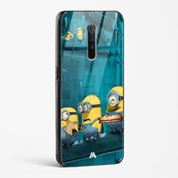 A Very Minion Lunch Break Glass Case Phone Cover from Myxtur