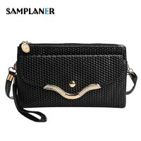Alligator Women Clutch Bag Small Sequined Leather Ladies Handy Bags Phone Pouch Luxury Female Clutch Bag Womens Messenger Bags $7.11