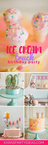 Do you love hearing a cheerful melody coming up the street?! If so, lick your lips because this Ice Cream Truck Birthday Party is here to meet! Coming at ya out
