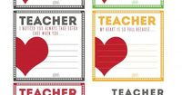 Teacher Love Notes & BACK TO SCHOOL PRINTABLES. Show your teacher love with these Love Note printables. Something kids will love to give.