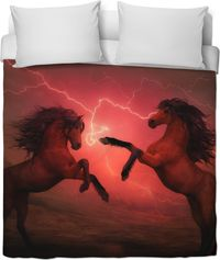 ROB Horses Lightning Duvet Cover $120.00