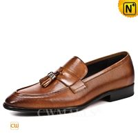 Custom Father's Day Gift | Men Leather Tassel Loafers CW719022 | CWMALLS.COM