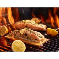 How To Cook Delicious & Easy Cedar Plank Salmon Fillets https://www.beckandbulow.com/cedar-plank-salmon-fillets/