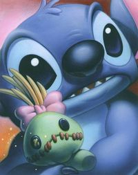 Smile: Stitch - by Tsuneo Sanda giclee on canvas This one is sooo cute !
