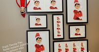 We've never done the Elf On The Shelf but a cute idea where Elf replaces pictures with his own