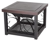 Hammer Tone Bronze Finish Cocktail Table Fire Pit F61331 $189.99