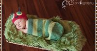 Crochet Hungy Caterpillar Hat Cocoon Pattern - HUNGRY CATERPILLAR - pdf 101, 701 on Etsy, $6.99 -- I think I can figure this one out
