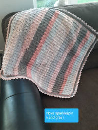 Crocheted Baby Blanket-Baby Shower Gift-Different Colored Soft To The Touch Blanket-Handmade Gift-Warm Heirloom For Baby-Floor Blanket $55.00