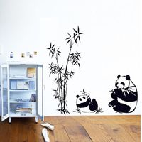 Wall Stickers DIY Panda Bamboo Pattern Removable Vinyl Decal Home Decor Wall Sticker XT $8.14