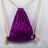 www.pagalpoona.com Drawstringbag manufacturedout of upcycled Sari material. Two inside pockets for the belongings you want to access frequently. Durable and comfortable unbleachedcotton string to make sure you enjoy carrying this beautiful bohemian...