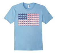 Men's Fleur de Lis American Flag Tee Shirt 2XL Baby Blue American.Flag.USA.Pa...