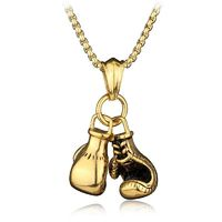 Antique Brushed Style High Polished Boxing Glove Pendant £1.95