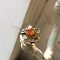 fire opal ring size 5.00, natural fire opal boho silver ring, mexican fire opal handcrafted sterling silver ring $49.76