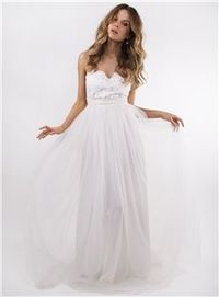 Chic Timeless A-line Lace Appliques Bodice Sheer Back Tulle Skirt Wedding Dress
