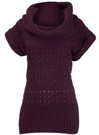 Dorothy Perkins Purple stitch tab cowl jumper Purple stitch tab cowl jumper. 90% Acrylic,10% Nylon. Machine washable. http://www.comparestoreprices.co.uk//dorothy-perkins-purple-stitch-tab-cowl-jumper.asp