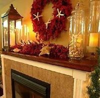 Place a mirror above your fireplace to provide a splendid reflection of the surrounding room and its furnishings. Fireplace mantels that are situated in front o
