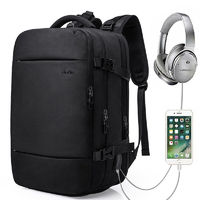 KAKA 813 USB Headphone Jack Backpack Multifunction 15.6inch Laptop Bag Shoulder Bag