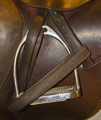 Wrap your stirrups for safety. #horse http://www.annabelchaffer.com/categories/Equestrian-Gifts/