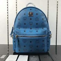 MCM Small Stark Side Odeon Studs Backpack In Blue