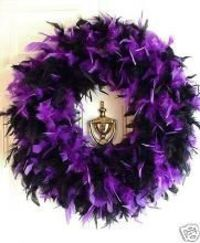 halloween decorations feather boa wreath