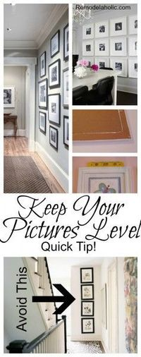 How to Keep Your Pictures Level, Quick Tip!