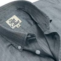 Grey Herringbone 2 Ply Premium Giza Cotton Button Down Shirt �'�1999.00