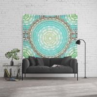 Vintage Distressed Faded Mandala Wall Tapestry.