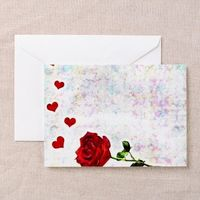 heart and rose greeting card