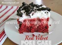 Red Velvet Poke Cake recipe at The Country Cook is the original poke cake recipe! Perfect for the holidays and it's so simple to make! So good!