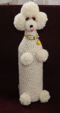 Poodle wine bottle cozy. Picture only but I bet I could figure this out easy enough!