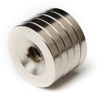 20 pcs 20 x 3 mm Strong Round Countersunk Ring Magnets 5 mm Hole Rare Earth Neodymium $19.80