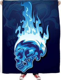 ROFB Blue Flames Fleece Blanket $65.00