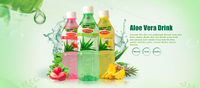 Our refreshing, Okyalo Aloe Vera Water Beverages .