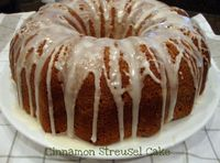 TweetCinnamon Streusel Cake-perfect for breakfast, snack or dessert Sock Cake. OK so it's really a Sock-it-to-Me Cake. OK, it's not even a Sock-it-to-me cake. I