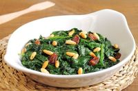 Searching for a vegetarian side dish with a gourmet flair for your next dinner party or family get-together? This spinach saute is no ordinary spinach side.