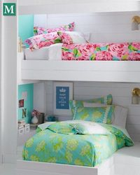 Lilly Pulitzer comforters! Perfect for a cute dorm room!