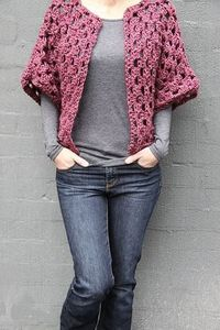 Crocheted Granny Shrug Again, I'm not normally one to post crocheted clothing, but this is lovely! The fabulous Kirsty has provided us with a fantastic visual how-to for the granny shrug on her blog, with both video instructions and step-by-step pho...