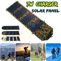 5V 7W Portable Foldable Solar Charger Pack USB Solar Panel Charger