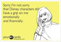 Sorry I'm not sorry that Disney characters still have a grip on me emotionally and financially.