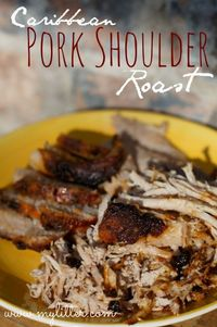 caribbean pork shoulder roast recipe�€�