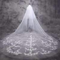 Bridal Veils 5 m Cathedral Veil Long Bride Lace Wedding Bridal Veil $63.99