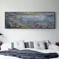 Claude Monet painting Water lilies oil paintings on canvas art texture painting lotus pond large wall art home decor cuadros abstractos $139.00