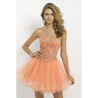 Nectarean Ball Gown Sweetheart Crystal Detailing Lace Short/Mini Satin&Tulle Prom Dresses - Dressesular.com