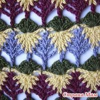 Crochet Bar Leaves Stitch - Video Tutorial �Teresa Restegui http://www.pinterest.com/teretegui/ �