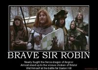 robins, monty python and holy grail.